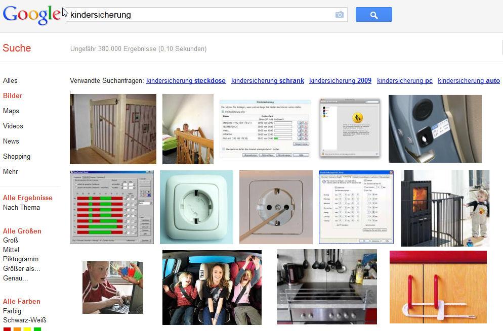 """Google-Ergebnisse für """"Kindersicherung"""""""