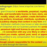 Snapchat Nutzungsbedingungen AGB