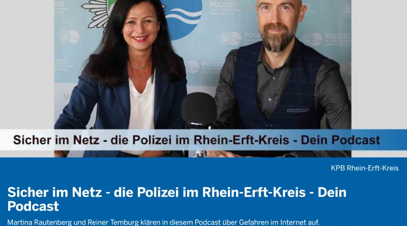 """Podcast """"Sicher im Netz"""" der Polizei Rhein-Erft-Kreis, NRW"""